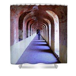Ancient Gallery At Bada Imambara Shower Curtain