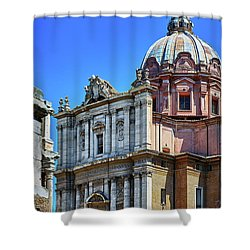 Shower Curtain featuring the photograph Ancient Government Building At The Roman Forum by Eduardo Jose Accorinti