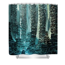 Ancient Library V1 Shower Curtain
