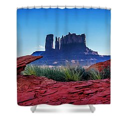 Ancient Monoliths Shower Curtain by Az Jackson