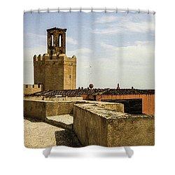 Ancient Moorish Citadel In Badajoz, Spain Shower Curtain