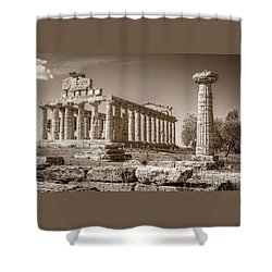 Ancient Paestum Architecture Shower Curtain