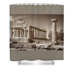Ancient Paestum Architecture Shower Curtain