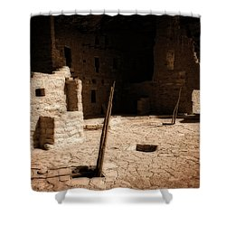 Shower Curtain featuring the photograph Ancient Sanctuary by Kurt Van Wagner