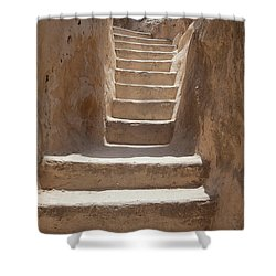Ancient Stairs Shower Curtain by Yoel Koskas