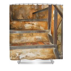Ancient Stairway Shower Curtain by Roberta Byram