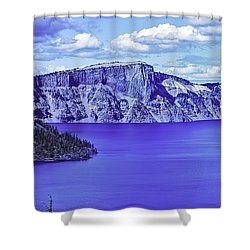 Ancient Waters Shower Curtain by Nancy Marie Ricketts