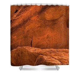 Ancient Petroglyphs Valley Of Fire Shower Curtain