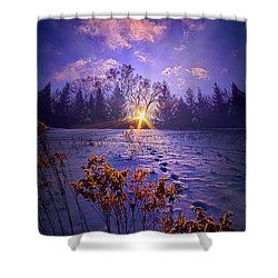 Shower Curtain featuring the photograph And Back Again by Phil Koch