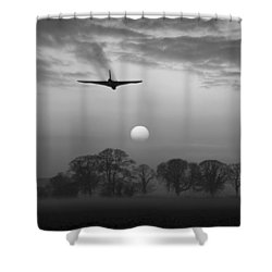 And Finally Black And White Version Shower Curtain