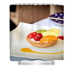 Shower Curtain featuring the photograph And For Dessert... by Jason Smith