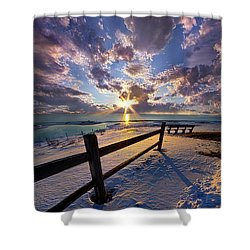 Shower Curtain featuring the photograph And I Will Give You Rest. by Phil Koch