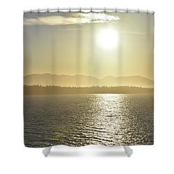And The Sun Goes Down Shower Curtain