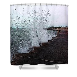 And The Waves Leap For Joy Shower Curtain