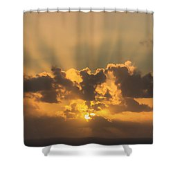 And Then There Was Day Five Shower Curtain by Roberta Byram