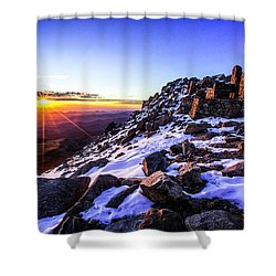 And Then There Was Light Shower Curtain