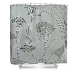 And Then They Parted Shower Curtain