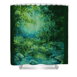 And Time Stood Still Shower Curtain by Mary Wolf