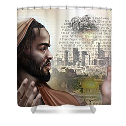 And Yet Still He Weeps Shower Curtain