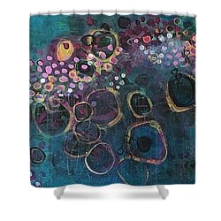 Shower Curtain featuring the painting And Yet You Are Loved by Laurie Maves ART