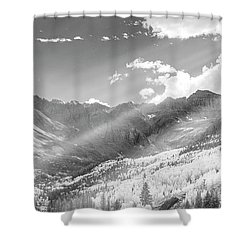 Shower Curtain featuring the photograph And You Feel The Scene by Jon Glaser