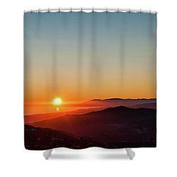 Andalucian Sunset Shower Curtain