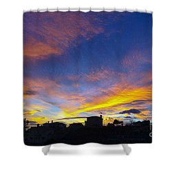 Andalusian Sunset Shower Curtain by Perry Van Munster