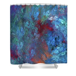 Shower Curtain featuring the digital art Andee Design Abstract 1 2017 by Andee Design