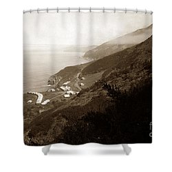 Anderson Creek Labor Camp Big Sur April 3 1931 Shower Curtain by California Views Mr Pat Hathaway Archives