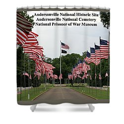 Andersonville National Park Shower Curtain