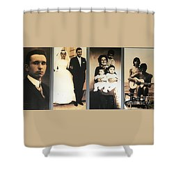 Andrea Bocelli Family Shower Curtain