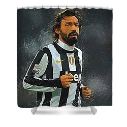 Andrea Pirlo Shower Curtain
