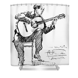 Andres Segovia Shower Curtain by Granger
