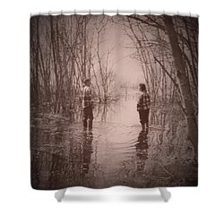 Andrew And Sarah Shower Curtain