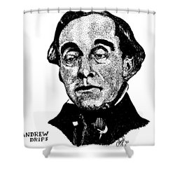 Andrew Drips Shower Curtain
