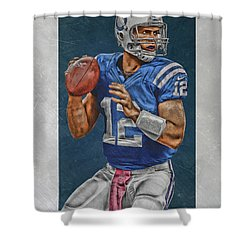 Andrew Luck Indianapolis Colts Art Shower Curtain