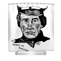 Andrew Sublette Shower Curtain