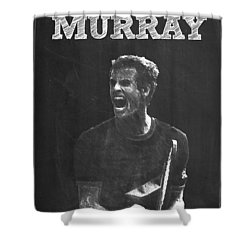 Andy Murray Shower Curtain by Semih Yurdabak