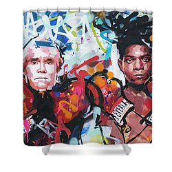 Andy Warhol And Jean-michel Basquiat Shower Curtain