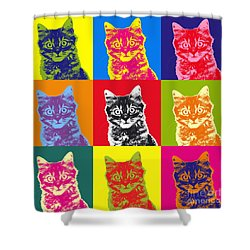 Andy Warhol Cat Shower Curtain
