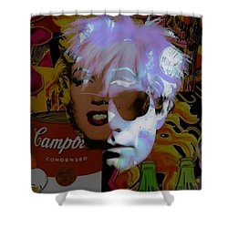 Andy Warhol Collectioin Shower Curtain by Marvin Blaine