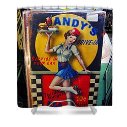 Andy's Drive In Shower Curtain