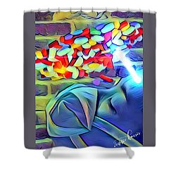 Anesthetized  Shower Curtain