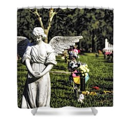 Angel 004 Shower Curtain
