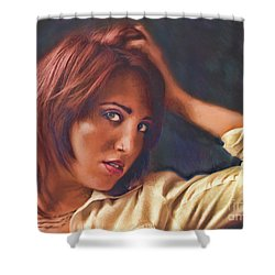 Shower Curtain featuring the photograph Angel  No. 14... by Chuck Caramella