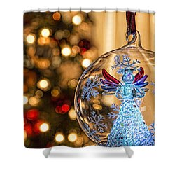 Shower Curtain featuring the photograph Angel Aglow by Bill Kesler