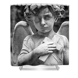 Angel And Cross Shower Curtain