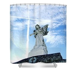 Angel And Crosses Shower Curtain