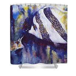 Angel And Unicorn Shower Curtain