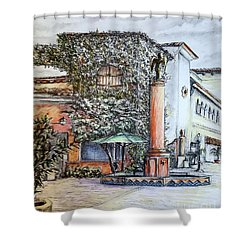 Angel At Santa Barbara Shower Curtain